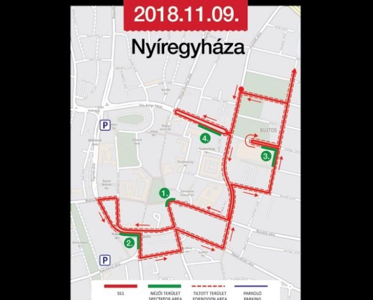 Terkepen Mutatjuk A Nyiregyhaza Rally Utvonalat Szabolcsihir Hu