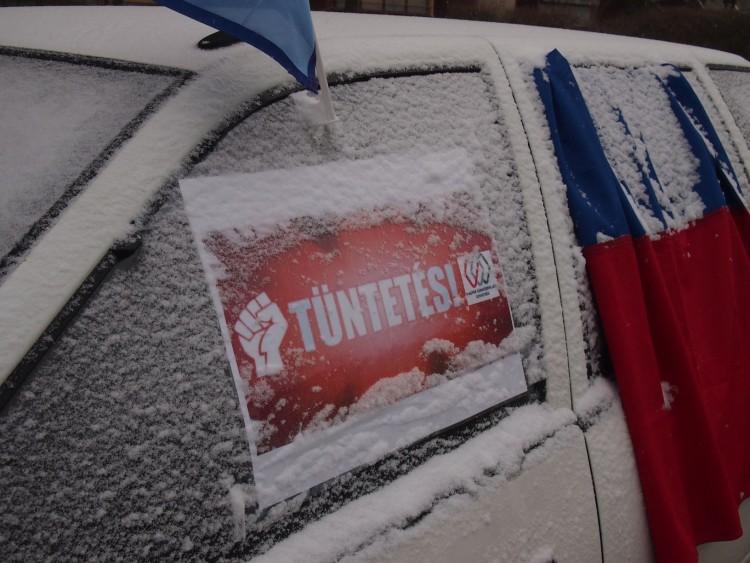 Nyíregyházán forgalomlassítással demonstrálnak