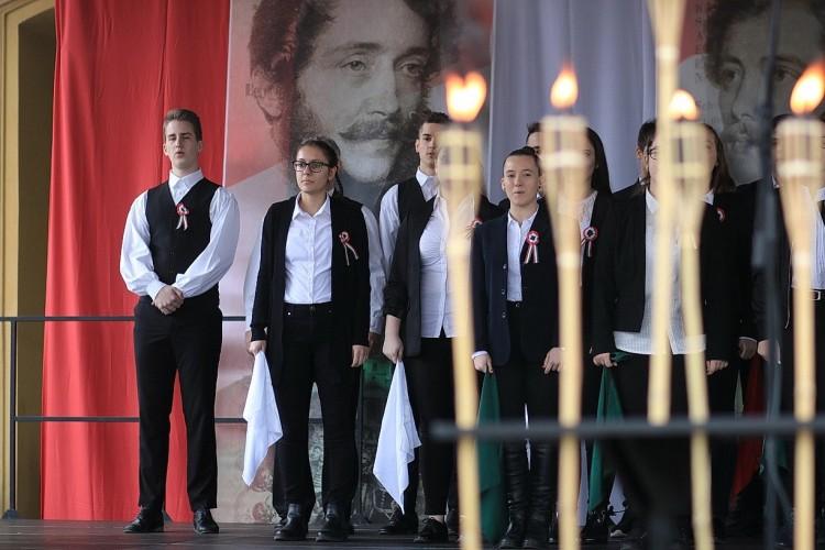 A nyíregyházi hősökre is emlékeztek a Kossuth téren