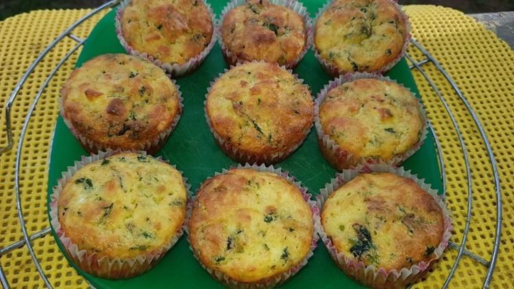 Recept: Boros Vali spenótos muffinja