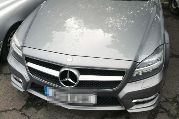 Lopott Mercedest találtak egy záhonyi parkolóban