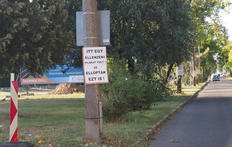 Eltűntek az ellenzéki plakátok Nyíregyházán? +FRISSÍTVE!