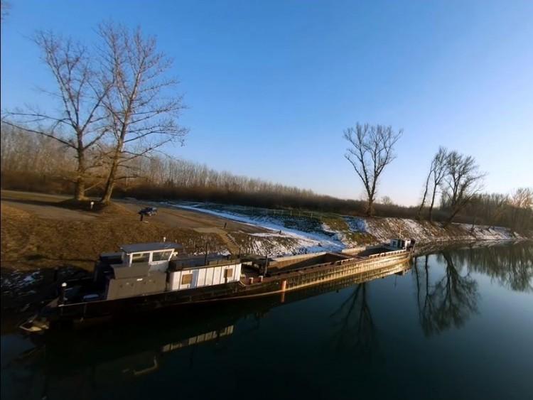 Drónnal a téli Tisza fölött – VIDEÓ