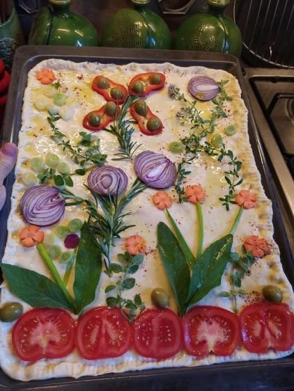 Recept: virágoskert a tepsiben